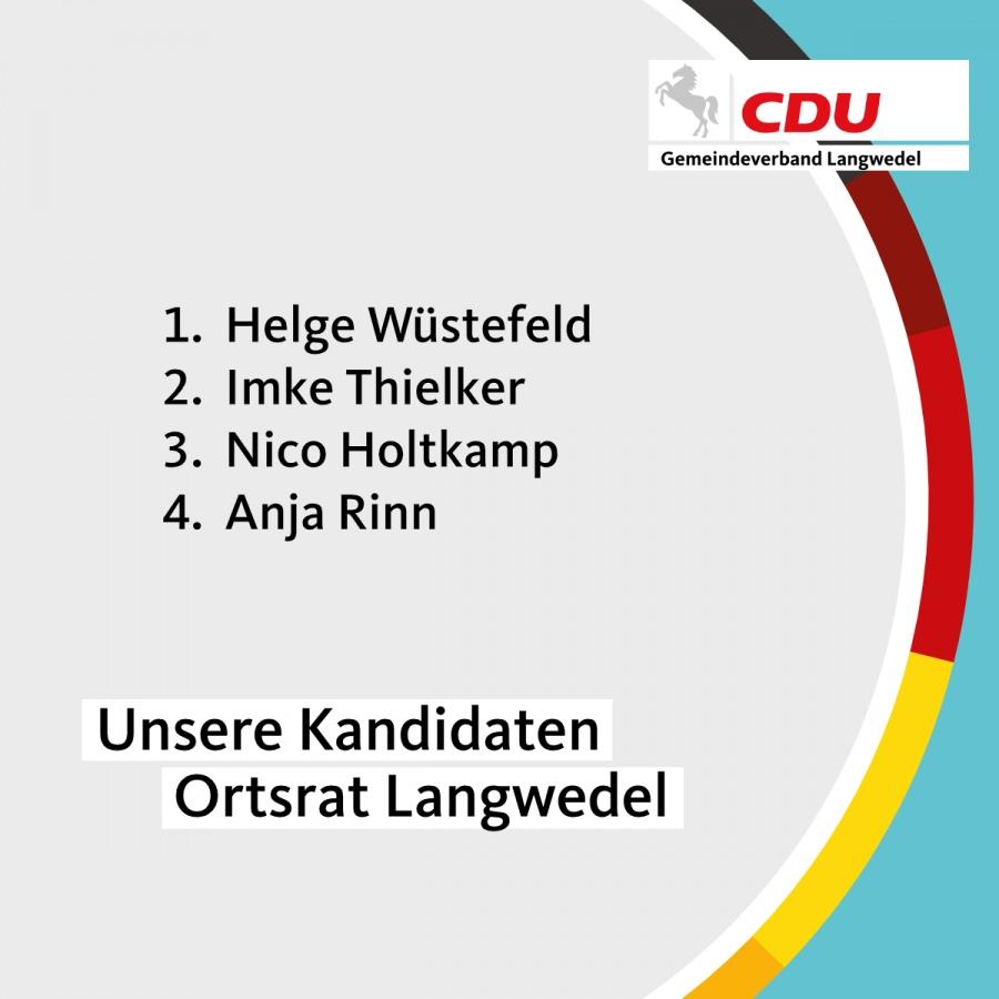 Kandidaten Ortsrat Langwedel