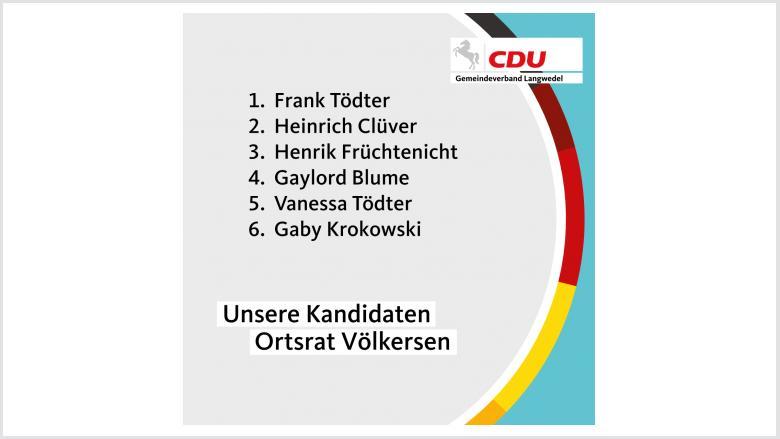 Kandidaten Ortsrat Völkersen