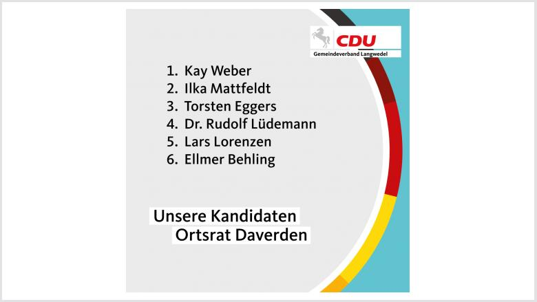 Kandidaten Ortsrat Daverden